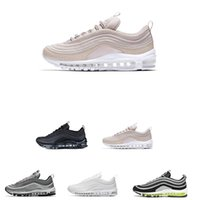 Wholesale colorful sneakers for women - 2018 New 97 Mens Sports Running Shoes Sneakers Metallic White Silver Colorful For designer woman Black size 36-45