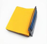 kaliteli cüzdanlar toptan satış-En kaliteli Paris tarzı lüks tasarımcı klasik ünlü erkek kadın ünlü hakiki deri gy kredi kartı tutucu mini cüzdan