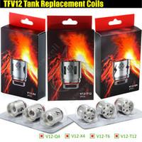 Wholesale e cig core - TFV12 V12-T12 V12-X4 V12-Q4 T6 Replacement Coils Prince Tank Atomizer Rebuildable core Head 0.12ohm 0.15ohm Quadruple Coil e cig Vape vapor