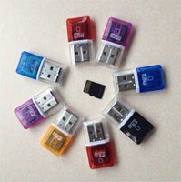 Wholesale micro sd tf memory card 4gb for sale - Group buy High Speed Crystal transparent USB TF Flash T Flash Memory Micro sd card reader adapter for gb gb gb gb gb gb TF Card