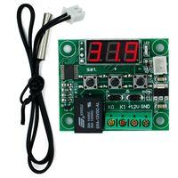 ingrosso regolatore di riscaldamento digitale-W1209 LED digitale DC 12V Temperatura Temperatura Interruttore di controllo freddo Modulo On / Off Scheda controller + Sensore NTC 49% di sconto