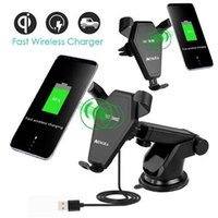 Wholesale Air Wireless - Q1 wireless fast charger 9v 1.67A 10W car Air Vent Mount Holder 360° rotating adjustment for iPhone 8 X Samsung Galaxy S9 plus with package