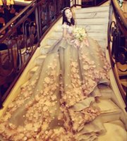 imágenes de vestido de novia más reciente al por mayor-Vestidos de novia Fuera del hombro 2019 Última línea 3D-Flower Bohemian Country Wedding Dresses Imagen real Tulle vacaciones en la playa