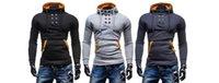 hutentwurf kapuzenpullijacke großhandel-Plus Größe M-6XL NEW OT Herren Slim Personalisierte Hut Design Hoodies Sweatshirts Jacke Pullover Assassins Creed Coat