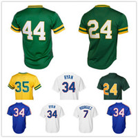 Wholesale Fast Cheap - 2018 Man #24 Rickey Henderson #35 Rickey Henderson #44 Reggie Jackson Embroidery Logos Fast Free Shipping Cheap Sale wholesale