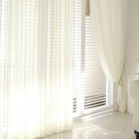 Moderne Tüll Fenster Vorhänge Für Wohnzimmer Weiße Gardinen Für  Schlafzimmer Rustikale Balkon Garn Vorhänge Weiche Römische Jalousien