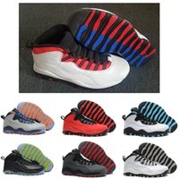 ecef9705753f6d New 10 mens basketball shoes Steel Grey white black 10S trainers Powder  Blue Lady Liberty Chicago GS X Fusion Red Bobcats Sneakers Shoes