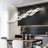 moderne pendelleuchte großhandel-Moderne led pendelleuchten welle hängen lampe esszimmer wohnzimmer pendelleuchte s linie led pendelleuchte leuchte beleuchtung