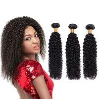 kinky kıvırcık insan saçları satılık toptan satış-En Satış 8A Brezilyalı Sapıkça Kıvırcık Saç Demetleri Vizon Brezilya Afro Kinky Kıvırcık İnsan Saç Uzantıları Brezilyalı Kıvırcık Bakire Saç örgüleri