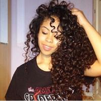 tam dantelli peruk kıvırcık toptan satış-Tam Dantel İnsan Saç Peruk Kıvırcık Derin Kıvırmak Malezya Bakire Saç Su Dalga Bebek Saç Öncesi takılı Hairline Ağartılmış Knot Dantel Ön Peruk