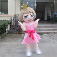 ingrosso costumi della mascotte della principessa degli adulti-Beautiful Sweetheart Princess queen Walking Cartoon Mascot Costume Halloween Party Adulto Taglia A +
