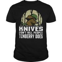 los mejores cuchillos chinos al por mayor-Los cuchillos no matan a la gente Camiseta Tonberry Does Camiseta adulta Camiseta de algodón de moda Camisetas top Camisetas Chino