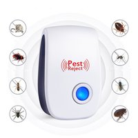 Wholesale wholesale mice rats - Mosquito Killer Electronic Multi-Purpose Ultrasonic Pest Repeller Reject Anti Rodent Bug Reject Rat Mouse Repellent 5pcs lot