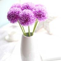 ingrosso piante artificiali di ortensia-Fiori artificiali 6pcs / lot Fiori di Ortensia fai da te Fiori Decorazione di nozze Flores Fiori finti Piante artificiali Bouquet Home Decor