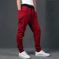pantalones de chándal únicos al por mayor-2018 Casual Men Pants Unique Big Pocket Hip Hop Pantalones Harem Quality Outwear Sweatpants Casual Mens Joggers TOP HERE Pantalones para hombre