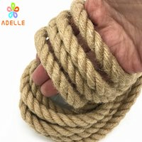 бесплатный японский секс оптовых-10mm x 10m Twisted Jute Twine rope Natural thick sex toys Japanese shibari rope DIY accessory home decorative free shipping