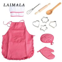 Wholesale toddler toys girl online - Role Play Kitchen Toy Children Cooking Utensils Kitchen Supplies Set For Toddler Children Pretend Play With Apron Chef Hat