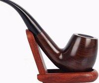ручной держатель для сигарет оптовых-Fu Tan куря, handmade труба черного дерева, изогнутая ручка, держатель сигареты, фильтр сигареты, патрон фильтра.