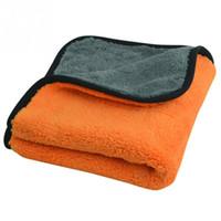 plüsch mikrofaser handtücher großhandel-45 cm x 38 cm 800GSM Durable Super Dick Plüsch Mikrofaser Auto Reinigungstücher Car Care Mikrofaser Wachs Polieren Detaillierung Handtücher