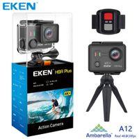 Wholesale actions cameras resale online - Original EKEN H9 H9R Plus wifi Action Camera Ambarella A12 Ultra HD Real K fps MP Photo for Panasonic waterproof sport Cam