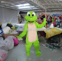 Wholesale green frogs - 2017 hot sale new adult plush green frog mascot costume animal costume cartoon costume EMS free shipping