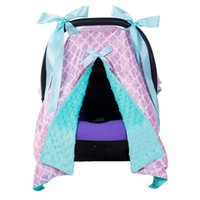 Wholesale cars feeding online - Baby Feeding Cover Breastfeeding Scarf with Bow Infant Multi use Blanket Cover Car Sear Canopy for Baby Nursing Colors
