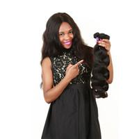 fornecedores do weave do cabelo humano venda por atacado-ELIBESS CABELO-Fábrica Fornecedor Brasileiro Virgem Do Cabelo da Onda Do Corpo 5 Pacotes 50 g / peça Cor Natural 100% Cabelo Humano Tecelagem 10