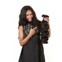 ingrosso i fornitori di tessuti dei capelli umani-Fornitore della fabbrica dei capelli ELIBESS Brasiliani del Virgin dell'onda del corpo dei capelli 5 pacchi 50 g / pezzo colore naturale 100% dei capelli umani tessitura 10