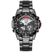 amst relojes al por mayor-AMST Marca de Lujo Relojes Deportivos Digitales Hombres de Cuarzo Reloj de la hora de LCD Reloj de pulsera de Acero Completo Relogio Masculino 2017