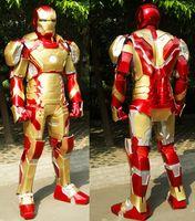 armadura led venda por atacado-Robô LED / LELED Costume homem De Ferro MK42 armadura final COSPLAY adereços terno COS armadura real