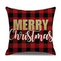 Wholesale hospital beds for home resale online - Bedding Christmas Pillowcase Plaid cm Pillow Case for Christmas Home Decorations Sofa Decorative Throw Pillow Cover Christmas Gift