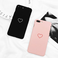 Wholesale Love Heart Couples Phone Case For iphone PLus Cases Fashion Candy Color Hard PC Back Cover For iphone Case Capa Fundas