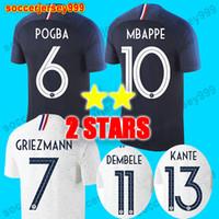Wholesale martial uniforms - TOP 2 stars Soccer jersey 2018 world cup Maillot de foot equipe GRIEZMANN POGBA MBAPPE MARTIAL KANTE DEMBELE GIROUD football shirt uniform