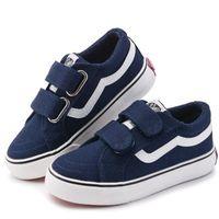 erkek kot ayakkabıları toptan satış-Tuval Çocuk Ayakkabıları Spor Nefes Erkek Sneakers Çocuklar Kızlar için Ayakkabı Kot Denim Rahat Çocuk Düz Çizmeler