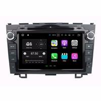 radio bluetooth para honda crv al por mayor-2 GB de RAM Android 7.1 Quad Core Radio DVD del coche GPS Reproductor multimedia DVD del coche para Honda CR-V CRV 2006-2011 con Bluetooth WIFI Espejo enlace