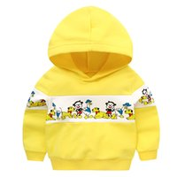420e761d28330 Vêtements bébé garçon et fille Printemps Automne Sweat à capuche pour  enfants Pull à capuche en coton imprimé jaune