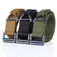 Wholesale rescue strap resale online - ENNIU New Cheap Black Hawk Combat Tactical Canvas Rescue Duty Belt Outdoor Tactical Drop Strap Leisure Nylon Quick dry Waist Belt