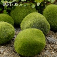 Wholesale Choice Ceramics - Wholesale- New Green Artificial Moss Stones 3 sizes to Choice Grass Bryophytes Home Garden Bonsai terrariums home decoration accessories