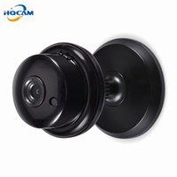 ingrosso pulsante di sicurezza-720P 1.0MP Pulsante MINI Supporto per videocamera WIFI, slot per schede TF integrato a due vie, Night Vision Home Security