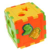 blocos de plástico para bebê venda por atacado-Bebê Colorido Bloco de Tijolos de Brinquedo ABS Plástico Combinando Blocos Bebê Crianças Inteligência Educacional Classificação Caixa de Brinquedo Para As Crianças Presente