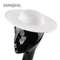 şapka malzemeleri toptan satış-30 cm Yuvarlak katı kopya sinamay parti fascinator tuhafiye fincan malzemesi şapkalar şapka düğün dekoratif bankası şapkalar DIY saç aksesuarları