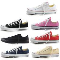 en düşük fiyatlı spor ayakkabıları toptan satış-35 Promosyon Fiyatı! SıCAK Yeni 15 Renk Tüm Boyut 35-46 Düşük Üst Yüksek Top Yetişkin Spor Klasik Tuval Ayakkabı Sneakers erkek kadın Tuval Ayakkabı