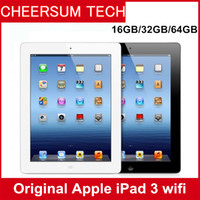 Wholesale tablet dual camera 16gb resale online - Refurbished iPad GB GB GB Wifi Original Apple ipad3 IOS Tablet A8 inch with Touch ID Tablet PC dual camera