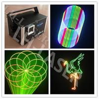 Wholesale 3d Lasers Rgb - DMX+ILDA+SD+2D+3D Multi color 1.5w rgb laser light dj lights stage light  laser light laser projector