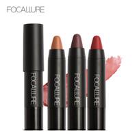 Wholesale light purple lipstick for sale - Group buy Focallure Lip Stick Matte Metallic Moisturizer Lipsticks Easy to Wear Waterproof Long lasting Cosmetic Nude Lips Makeup Tool