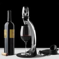 ingrosso scatola di cristallo-Vino all'ingrosso DECANTER Set Upscale Europeo Acrilico Home Party Creativo Uva rossa Vino regalo portatile Travel Wine Pourer
