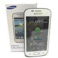 Wholesale wholesale galaxy camera online - Samsung GALAXY Trend Duos II S7572 G WCDMA Cell Phones ROM Inch Dual Core MP Android Refurbished Unlocked Original Phone