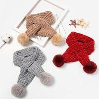 ingrosso caldo per i ragazzi-Cute Fur Pompom Neck Warmer Winter Kids Scarf Bambini Warm Sciarpe lavorate a maglia scialli e avvolge per ragazze ragazzi
