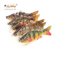 Wholesale crankbait lure segment online - Teeway Fishing Jig Lures cm g Segments Swimbait Crankbait Fishing Lure Hard Bait with Artificial Hooks Fishing Wobblers