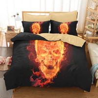 Wholesale king size skull bedding for sale - Bulk Styles Skull D Printed Twin King Size Bedding Sets Bed Sheets Queen Bedding Sets King Size Comforter Set